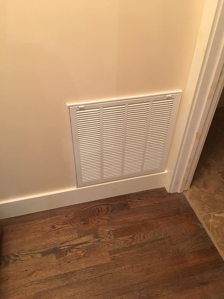 CAM Heating & Cooling return vent inside a home